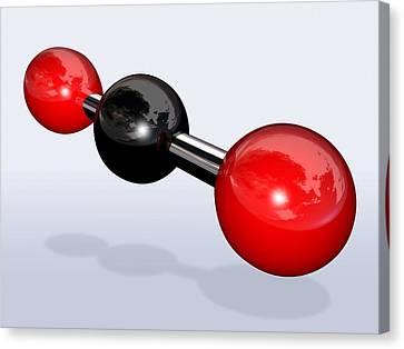 Carbon Dioxide Molecule Canvas Print by Miriam Maslo