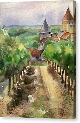 Carcassonne Canvas Print by Lydia Irving