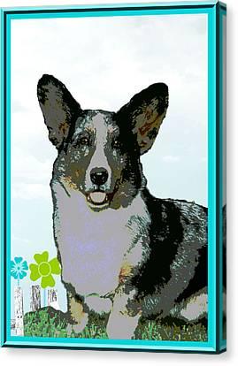 Cardigan Welsh Corgi Canvas Print by One Rude Dawg Orcutt