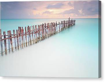 Caribbean Sunset Canvas Print by Enzo Figueres