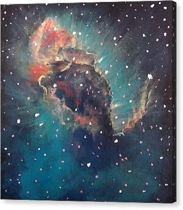 Carina Nebula Jet Canvas Print by Alizey Khan