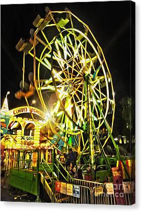 Carnival Ferris Wheel Canvas Print by Gregory Dyer