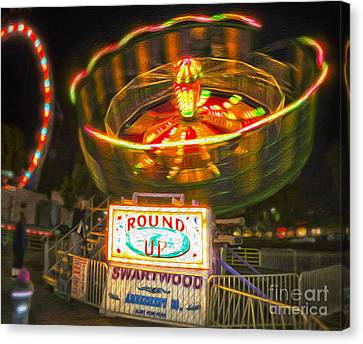 Carnival Ride - The Round Up Canvas Print by Gregory Dyer