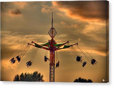 Carnival Ride Canvas Print by Nicholas  Grunas
