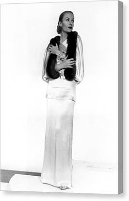 Carole Lombard, Portrait Canvas Print by Everett