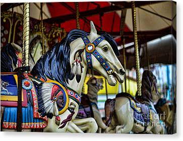 Carousel Horse 6 Canvas Print by Paul Ward