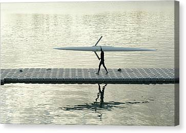 Carrying Single Scull Canvas Print by Lynn Koenig