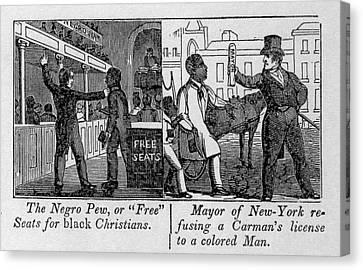 Cartoons Depicting The Racial Canvas Print by Everett
