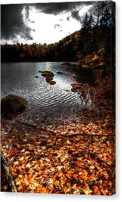 Cary Lake After The Storm Canvas Print by David Patterson
