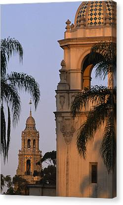 Casa Del Prado Theatre In Balboa Park Canvas Print by Phil Schermeister