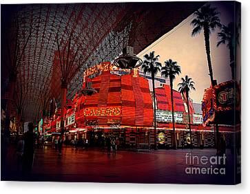 Casino Fremont Street Las Vegas Canvas Print by Susanne Van Hulst