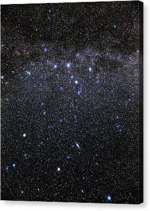 Cassiopeia And Andromeda Constellations Canvas Print by Eckhard Slawik