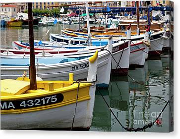 Cassis Boats Canvas Print by Brian Jannsen