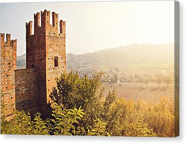 Castell'arquato Canvas Print by Just a click