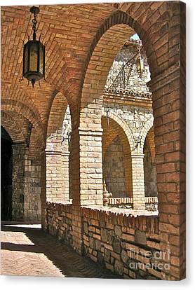 Castello Amorosa Canvas Print by Italian Art