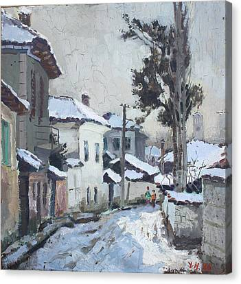 Castle Neighborhood Elbasan Canvas Print by Ylli Haruni