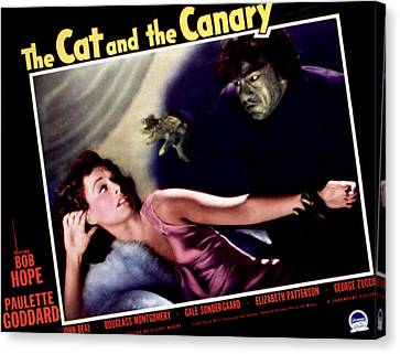 Cat And The Canary, The, Paulette Canvas Print by Everett