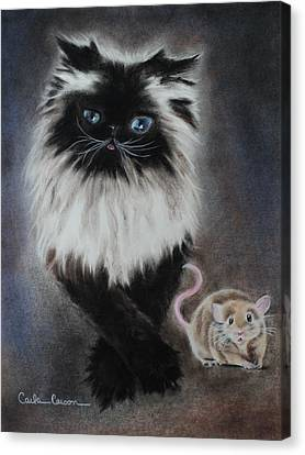 Cat N Mouse Say Cheeeeeeese Canvas Print by Carla Carson