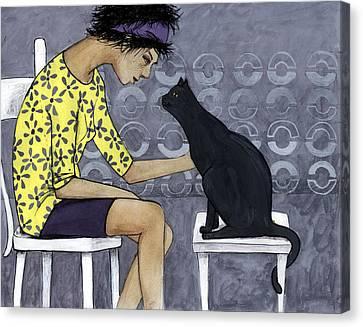 Cat Talk Canvas Print by Georgiana Chitac