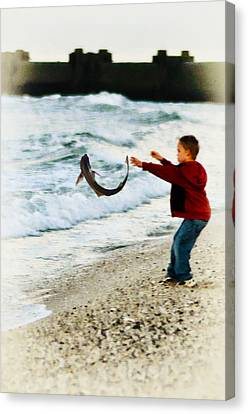 Catch And Release Canvas Print by Bill Cannon