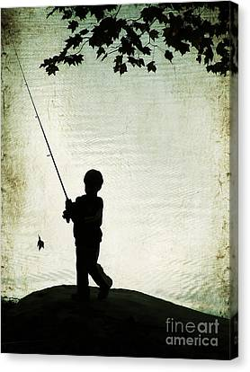 Catching Leaves Canvas Print by Darren Fisher