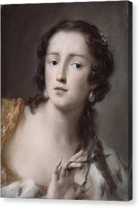 Caterina Sagredo Barbarigo As 'bernice' Canvas Print by Rosalba Giovanna Carriera