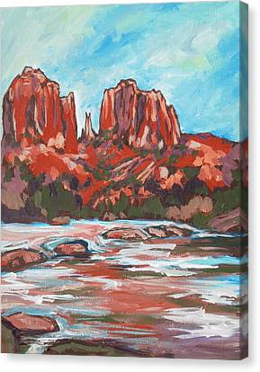 Cathedral Rock 2 Canvas Print by Sandy Tracey