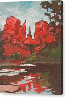 Cathedral Rock Canvas Print by Sandy Tracey