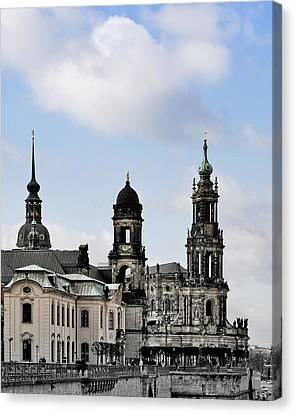 Catholic Church Of The Royal Court - Hofkirche Dresden Canvas Print by Christine Till
