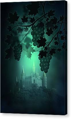 Catle And Grapes Canvas Print by Svetlana Sewell