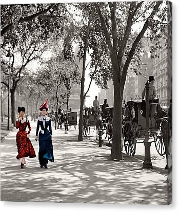 Catwalk In New York 1901 Canvas Print by Steve K