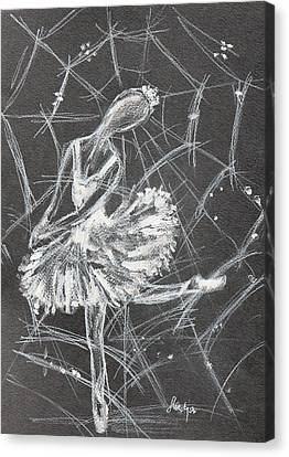 Caught In A Web  Canvas Print by Sladjana Lazarevic