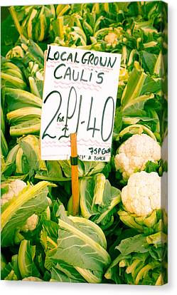 Cauliflower Canvas Print by Tom Gowanlock