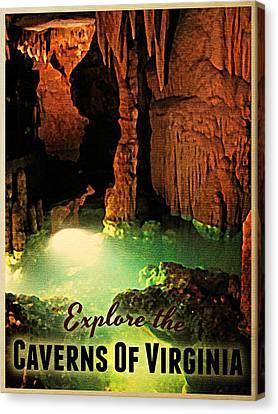 Caverns Of Virginia Canvas Print by Flo Karp