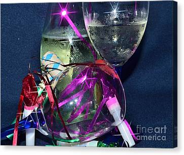 Celebrate Starry Canvas Print by Lynda Dawson-Youngclaus
