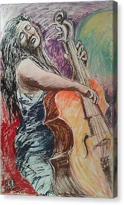 Cellist Canvas Print by Joemar Sanchez