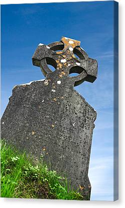 Celtic Grave Stone Canvas Print by Semmick Photo