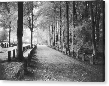 Cemetery At Ypres  Canvas Print by Simon Marsden