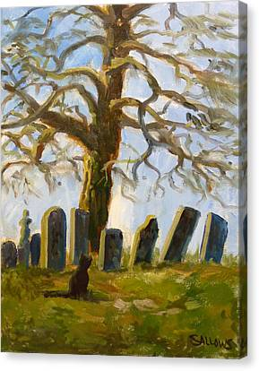 Cemetery Road Canvas Print by Nora Sallows