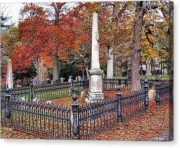 Cemetery Scenery Canvas Print by Janice Drew