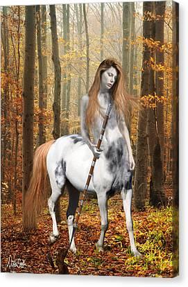 Centaur Series Autumn Walk Canvas Print by Nikki Marie Smith