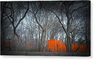 Central Park Canvas Print by Naxart Studio