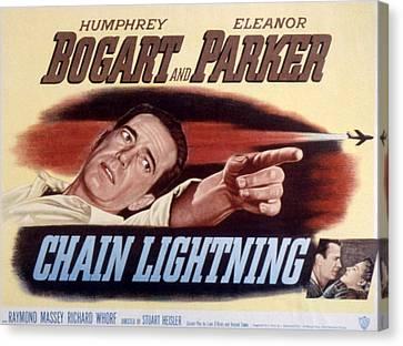 Chain Lightning, Humphrey Bogart, 1950 Canvas Print by Everett