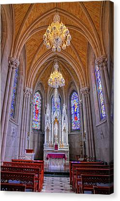 Chapel At Sacred Heart Cathedral Canvas Print by Dave Mills