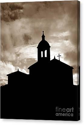 Chapel Silhouette Canvas Print by Gaspar Avila