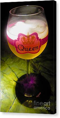 Chardonnay Queen Canvas Print by Cheryl Young