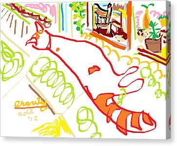 Charity Canvas Print by Anita Dale Livaditis