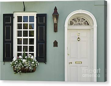 Charleston Doorway - D006767 Canvas Print by Daniel Dempster
