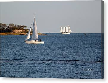 Charleston Harbor Scenic Canvas Print by Suzanne Gaff