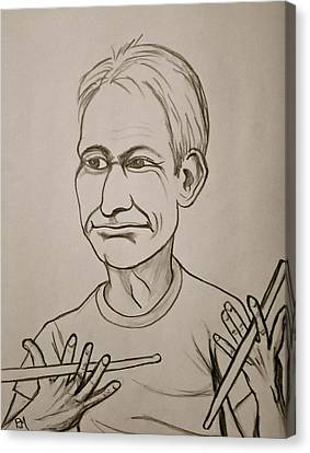 Charlie Watts Canvas Print by Pete Maier